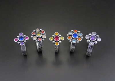 Colourful Cluster Rings