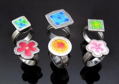Enamelled Rings